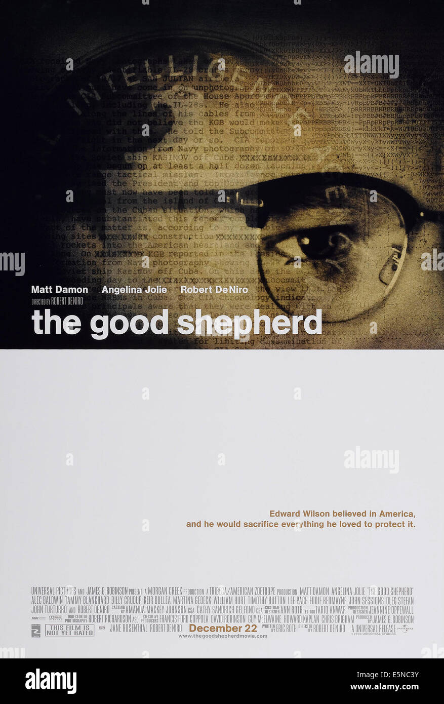 THE GOOD SHEPHERD, US advance poster art, Matt Damon, 2006, © Universal/courtesy Everett Collection - Stock Image