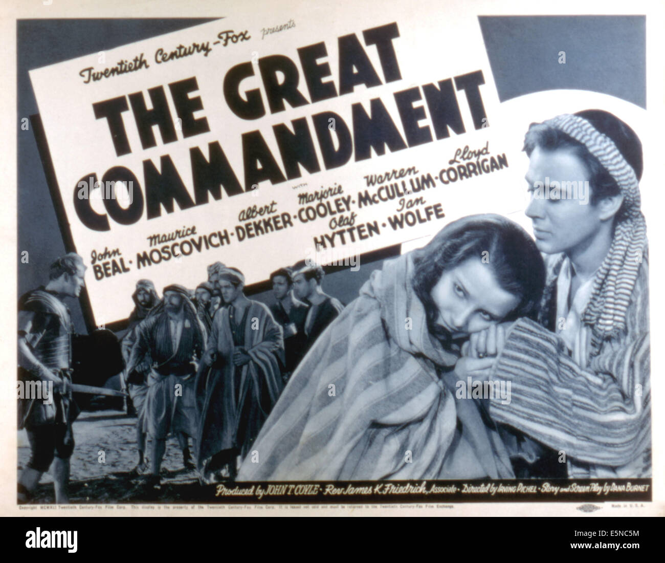 THE GREAT COMMANDMENT, Albert Dekker, Marjorie Cooley, John Beal, 1939 - Stock Image