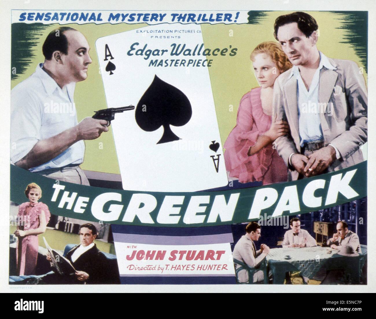 THE GREEN PACK, top from left: Garry Marsh, Aileen Marson, John Stuart, 1934 Stock Photo