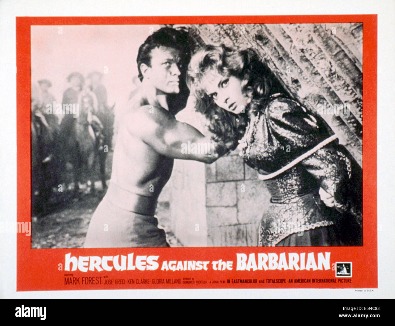 HERCULES AGAINST THE BARBARIANS (aka HERCULES VS THE BARBARIANS; MACISTE   NELL'INFERNO DI GENGIS   KHAN), Mark - Stock Image