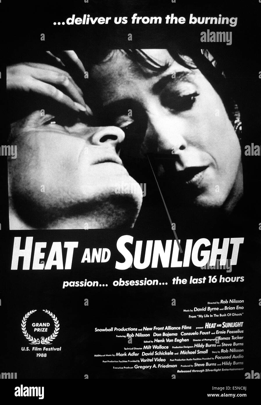 HEAT AND SUNLIGHT, from left: Rob Nilsson, Consuela Faust, 1987, © Silverlight Pictures/courtesy Everett Collection - Stock Image