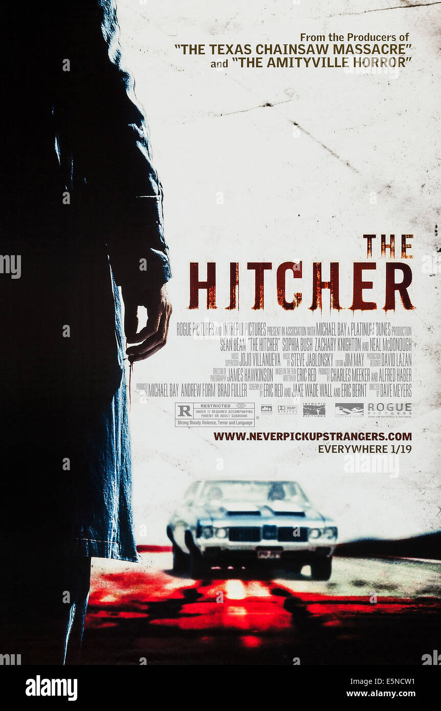 THE HITCHER, US advance poster art, 2007. ©Rogue Pictures/courtesy Everett Collection - Stock Image