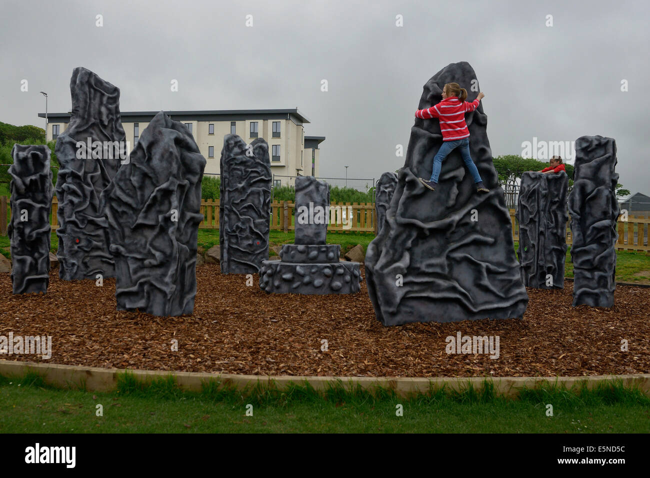 play area park in kirkwall orkney scotland - Stock Image