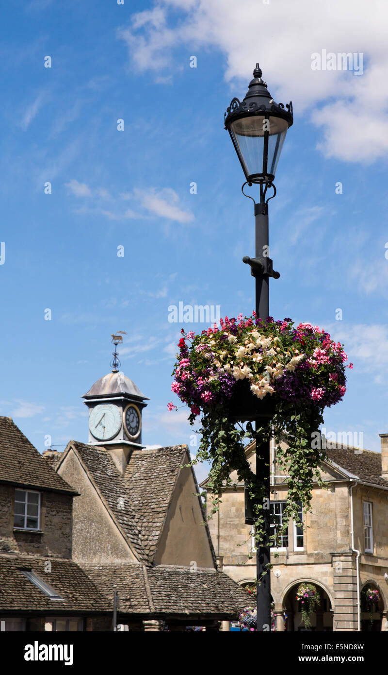 Witney, a small town in Oxfordshire England UK - Stock Image