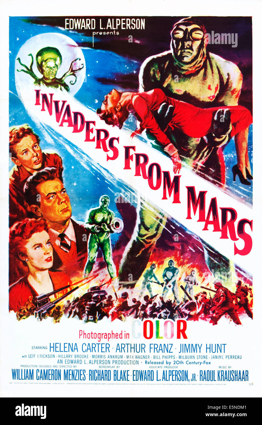 INVADERS FROM MARS, Jimmy Hunt, Arthur Franz, Helena Carter, 1953 - Stock Image