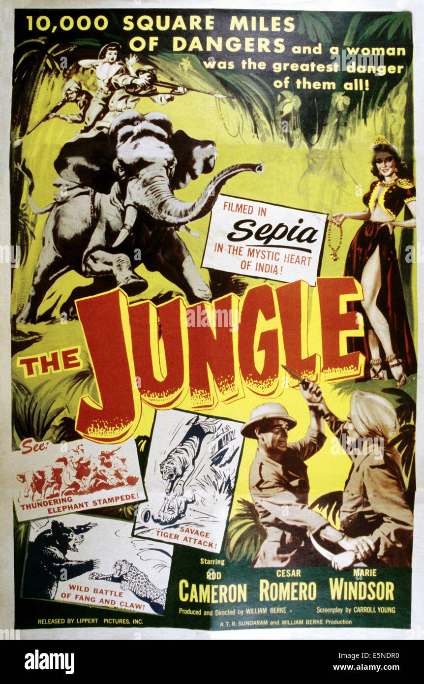 THE JUNGLE, poster art, 1952 - Stock Image