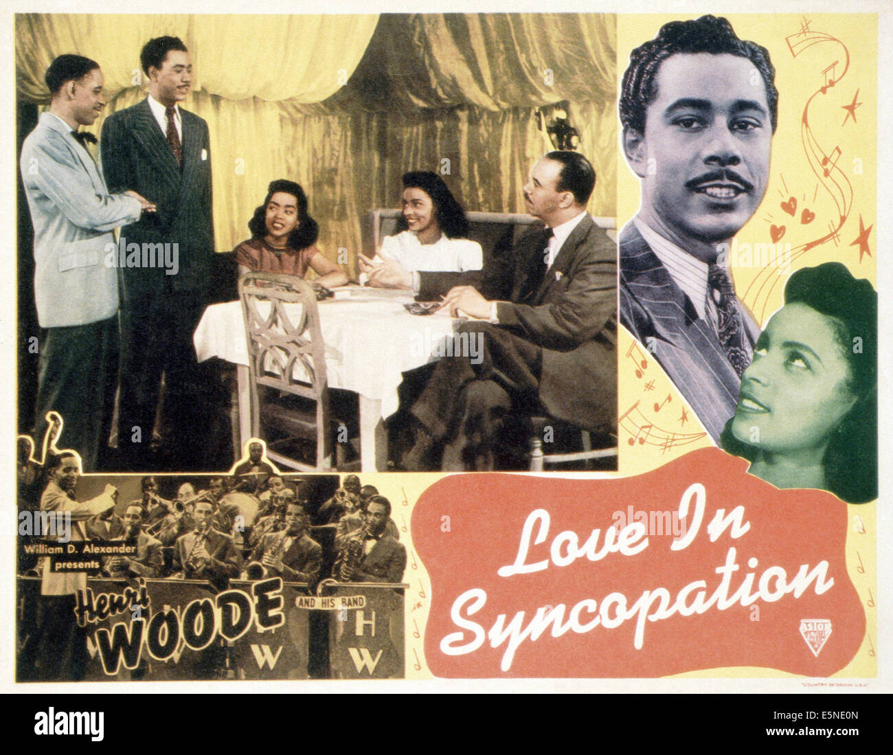 LOVE IN SYNCOPATION, Henri Woode and his Band (bottom), 1940s - Stock Image