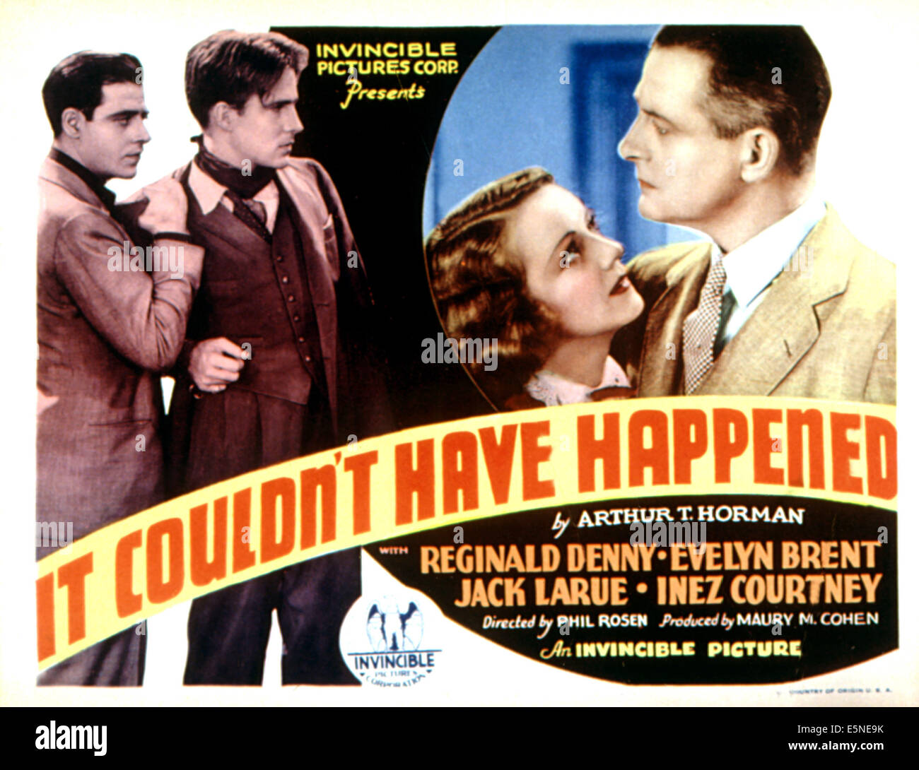 IT COULDN'T HAVE HAPPENED (aka IT COULDN'T HAVE HAPPENED BUT IT DID;   DIVIDED BY TWO), Jack LaRue, Hugh - Stock Image