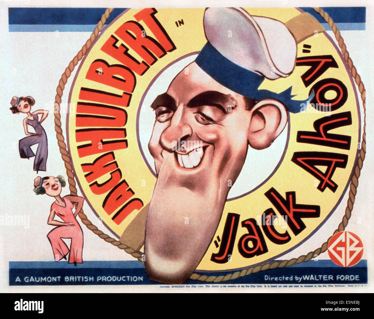 JACK AHOY, Jack Hulbert, 1934 Stock Photo