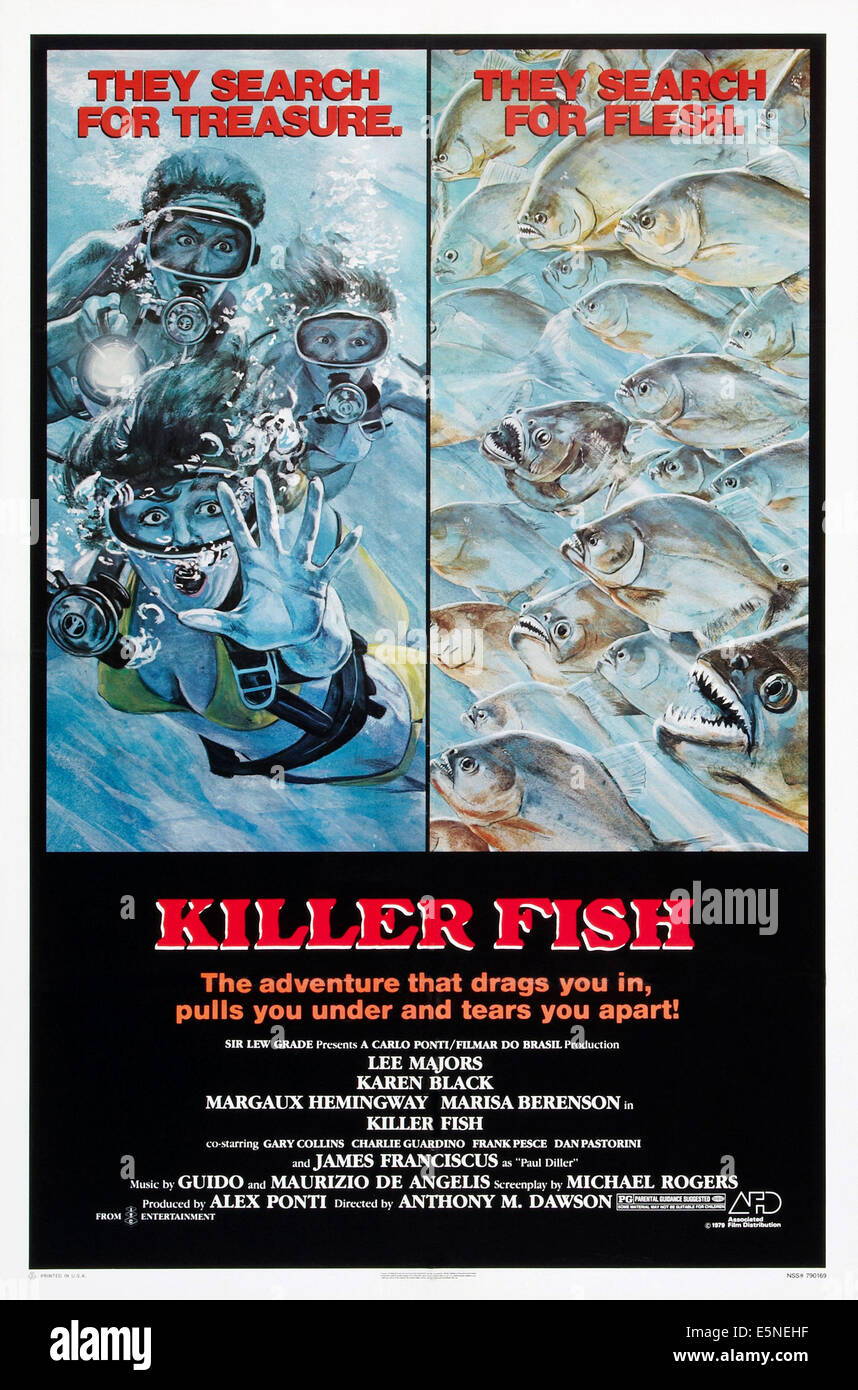 KILLER FISH, poster, 1979. ©Associated Film Distribution/courtesy Everett Collection - Stock Image