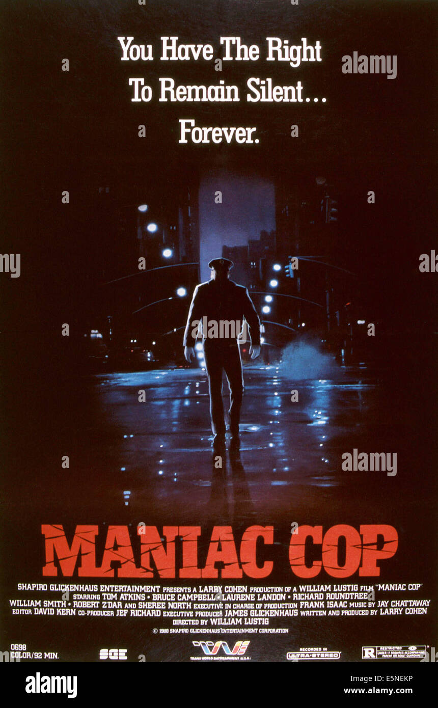 MANIAC COP, 1988, © Shapiro-Glickenhaus Entertainment/courtesy Everett Collection - Stock Image