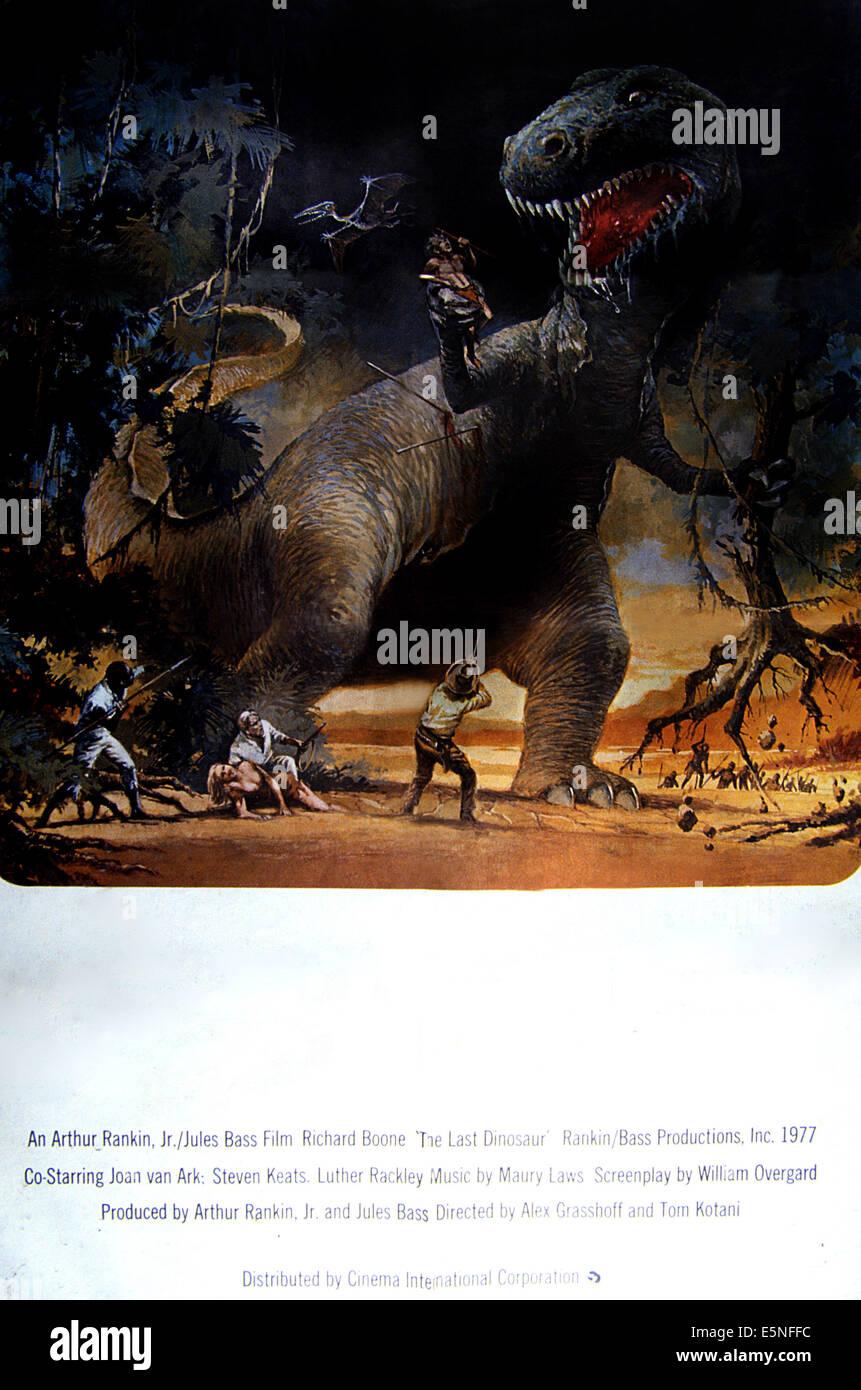 THE LAST DINOSAUR, poster art, 1977. - Stock Image