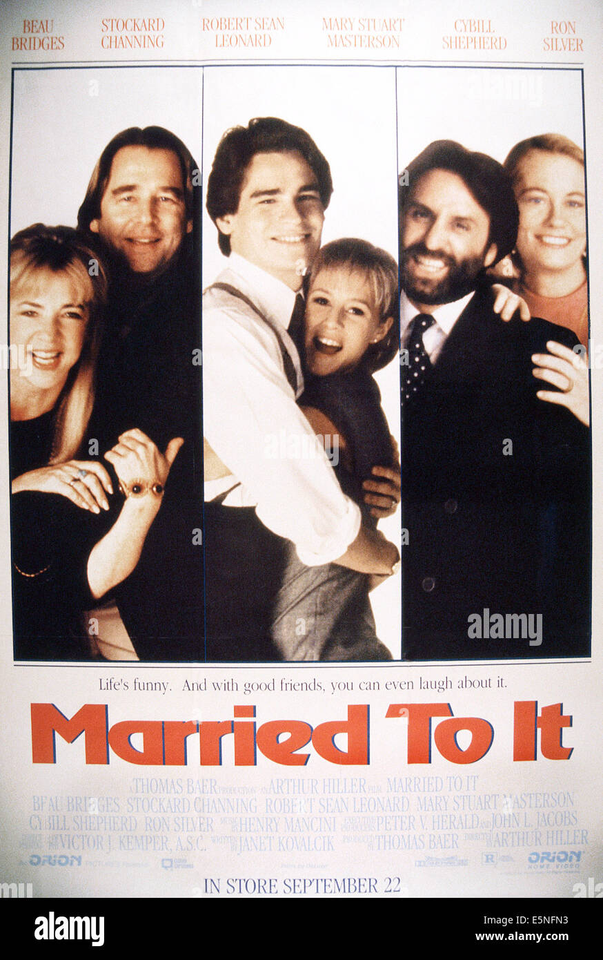 MARRIED TO IT, from left: Stockard Channing, Beau Bridges, Robert Sean Leonard, Mary Stuart Masterson, Ron Silver, Stock Photo
