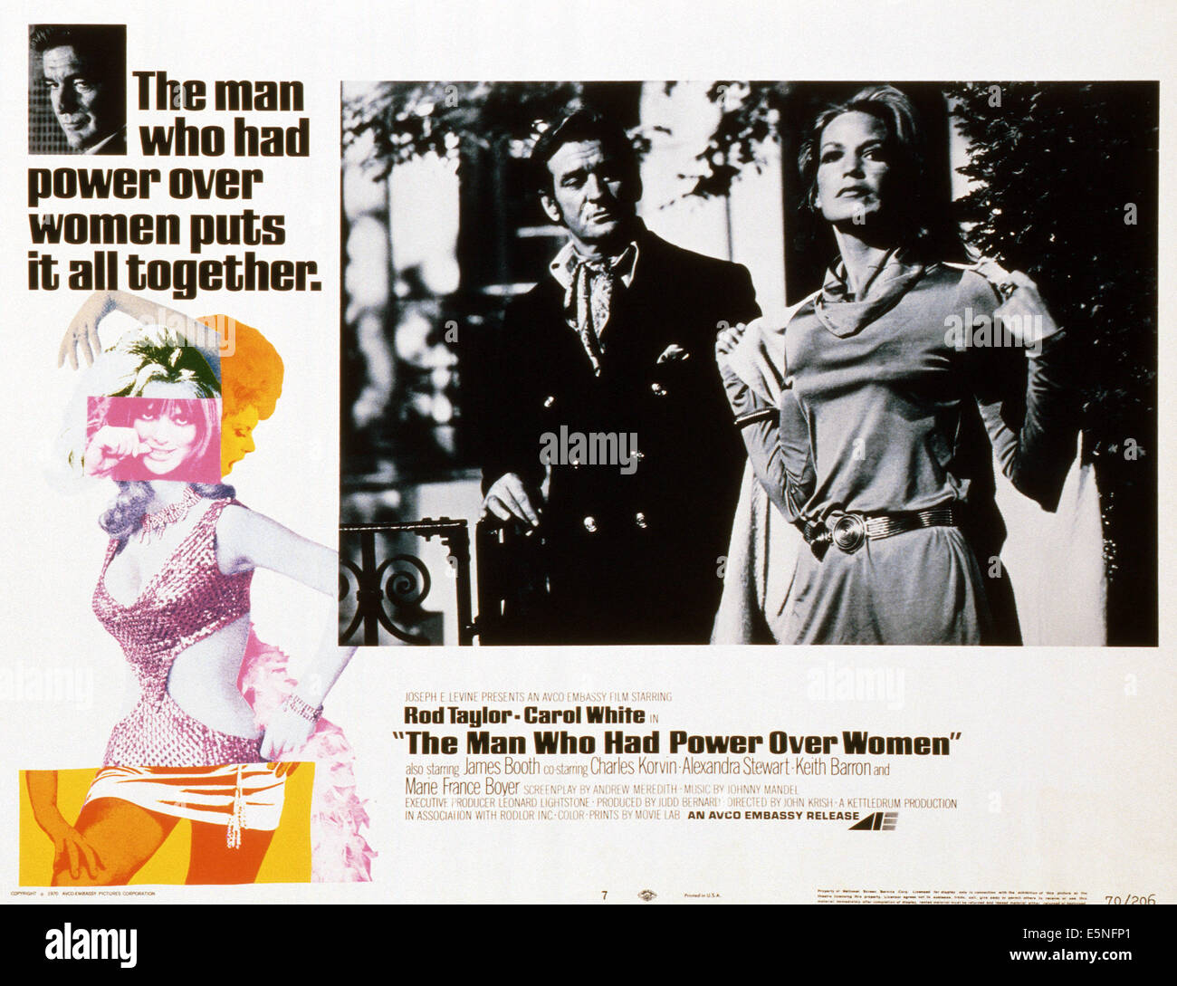 THE MAN WHO HAD POWER OVER WOMEN, Rod Taylor (left and center), 1970 - Stock Image