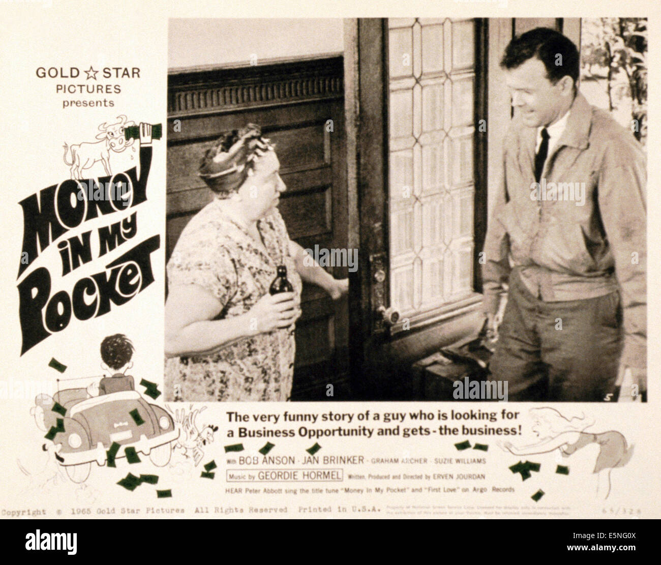 MONEY IN MY POCKET, 1962 - Stock Image