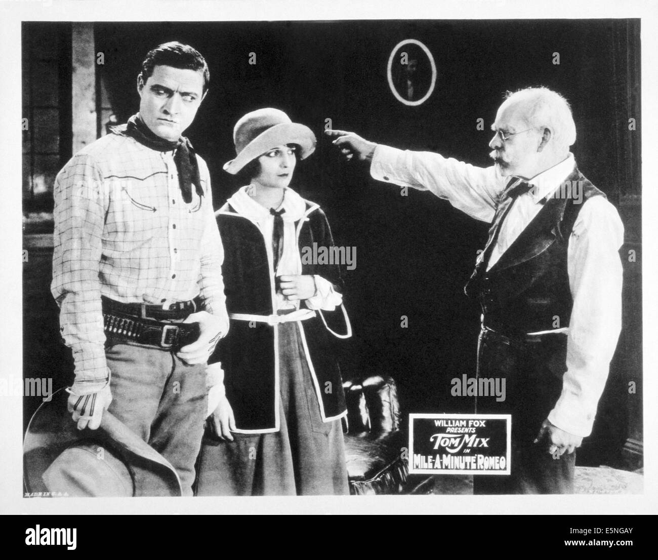 MILE-A-MINUTE ROMEO, from left: tom Mix, Betty Jewel, 1923, TM & Copyright © 20th Century Fox Film Corp./courtesy - Stock Image