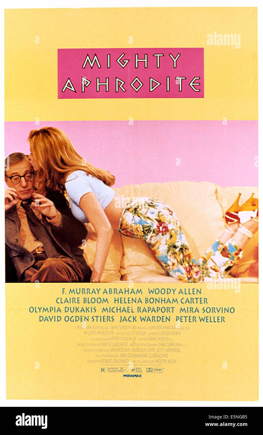 MIGHTY APHRODITE, Woody Allen, Mira Sorvino, 1995 - Stock Image