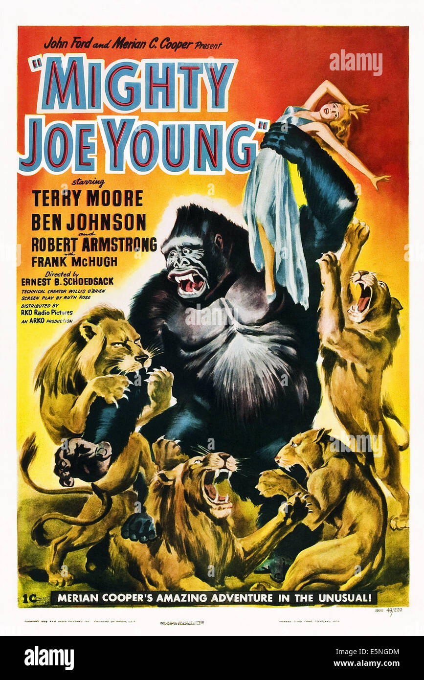 MIGHTY JOE YOUNG, 1949. - Stock Image
