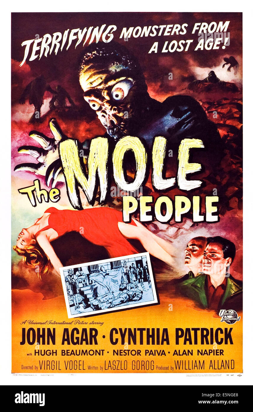 THE MOLE PEOPLE, 1956 - Stock Image