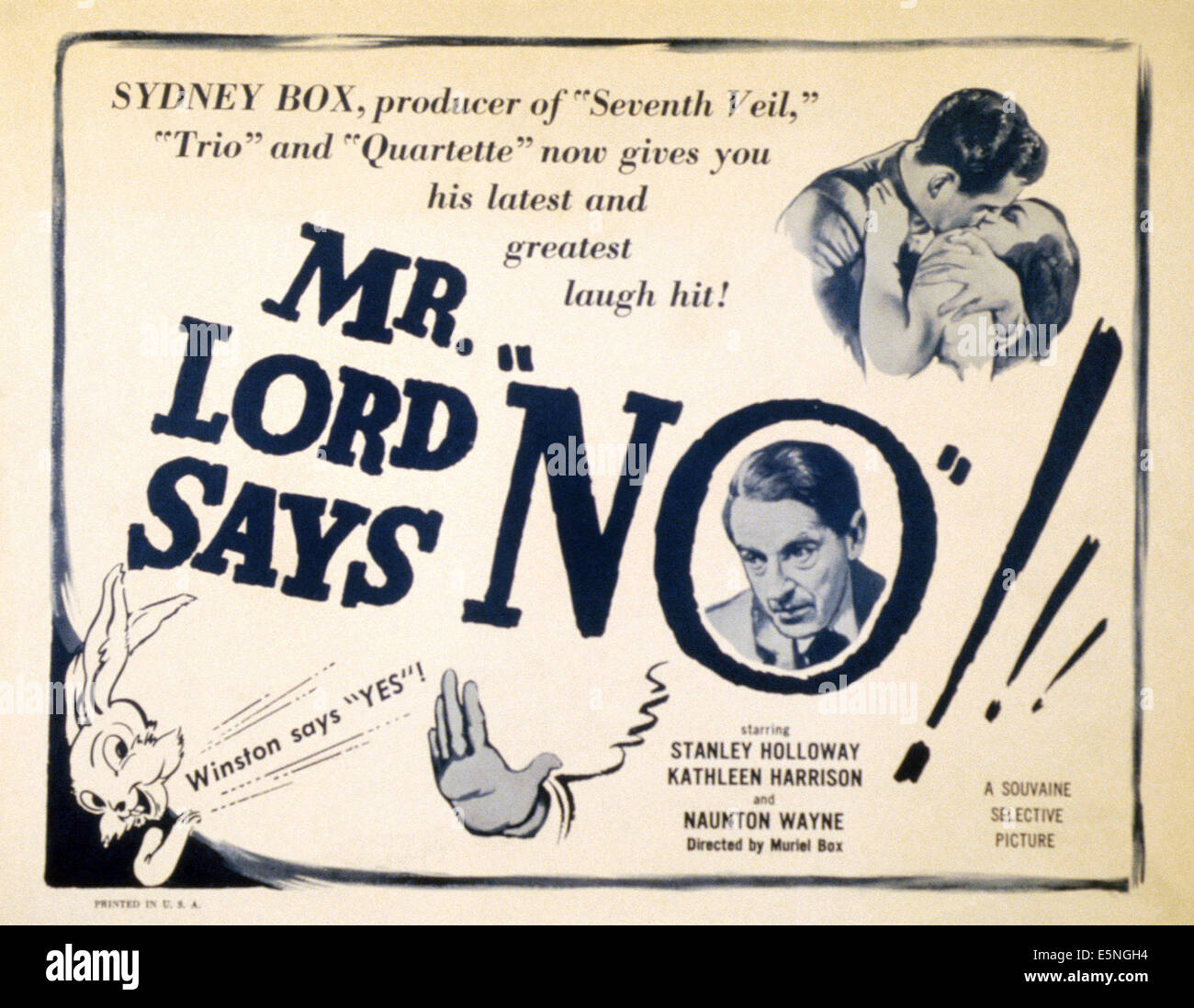 MR. LORD SAYS NO, (aka THE HAPPY FAMILY), Stanley Holloway (bottom), 1952 Stock Photo