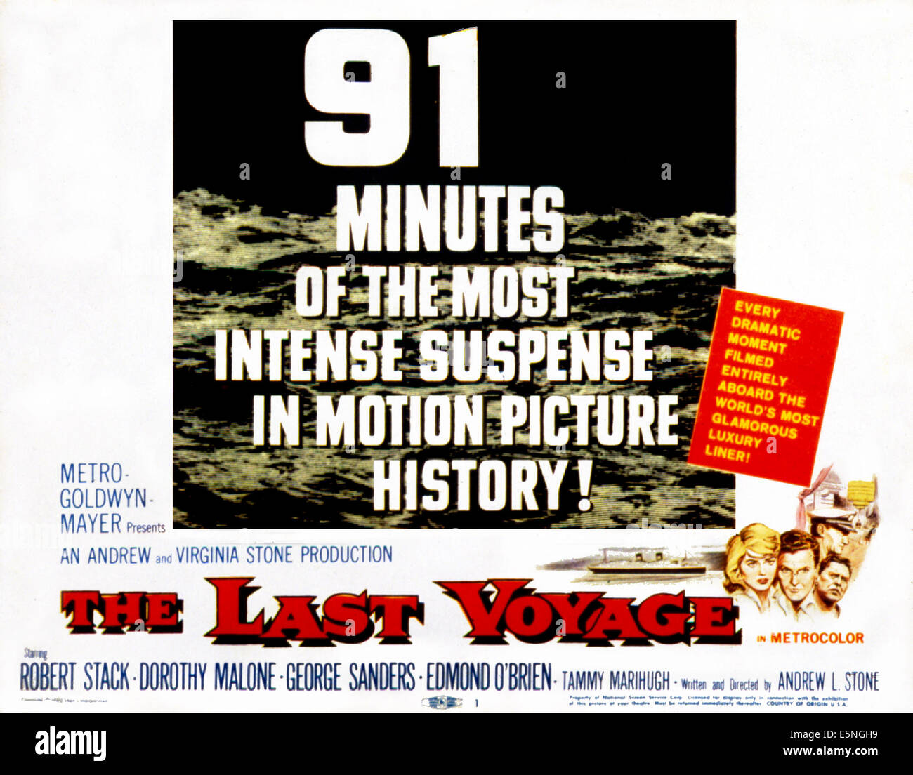 THE LAST VOYAGE, Poster Art, 1960 - Stock Image