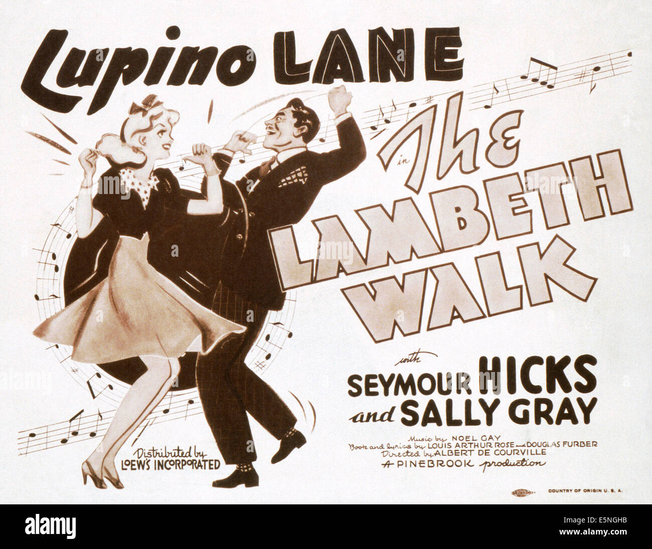 THE LAMBETH WALK, (aka ME AND MY GIRL), lobbycard, 1939Stock Photo
