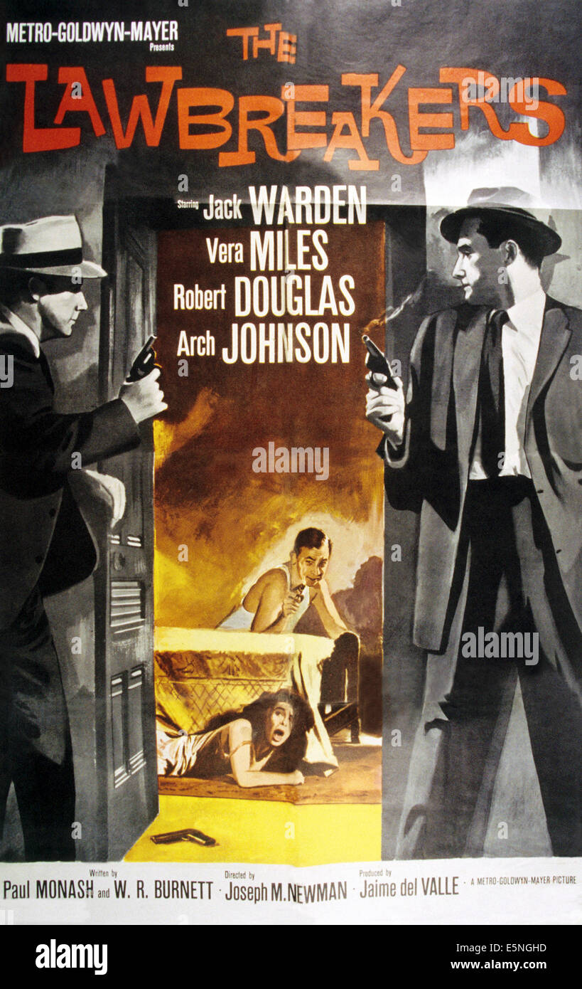 THE LAWBREAKERS, poster art, 1960. - Stock Image