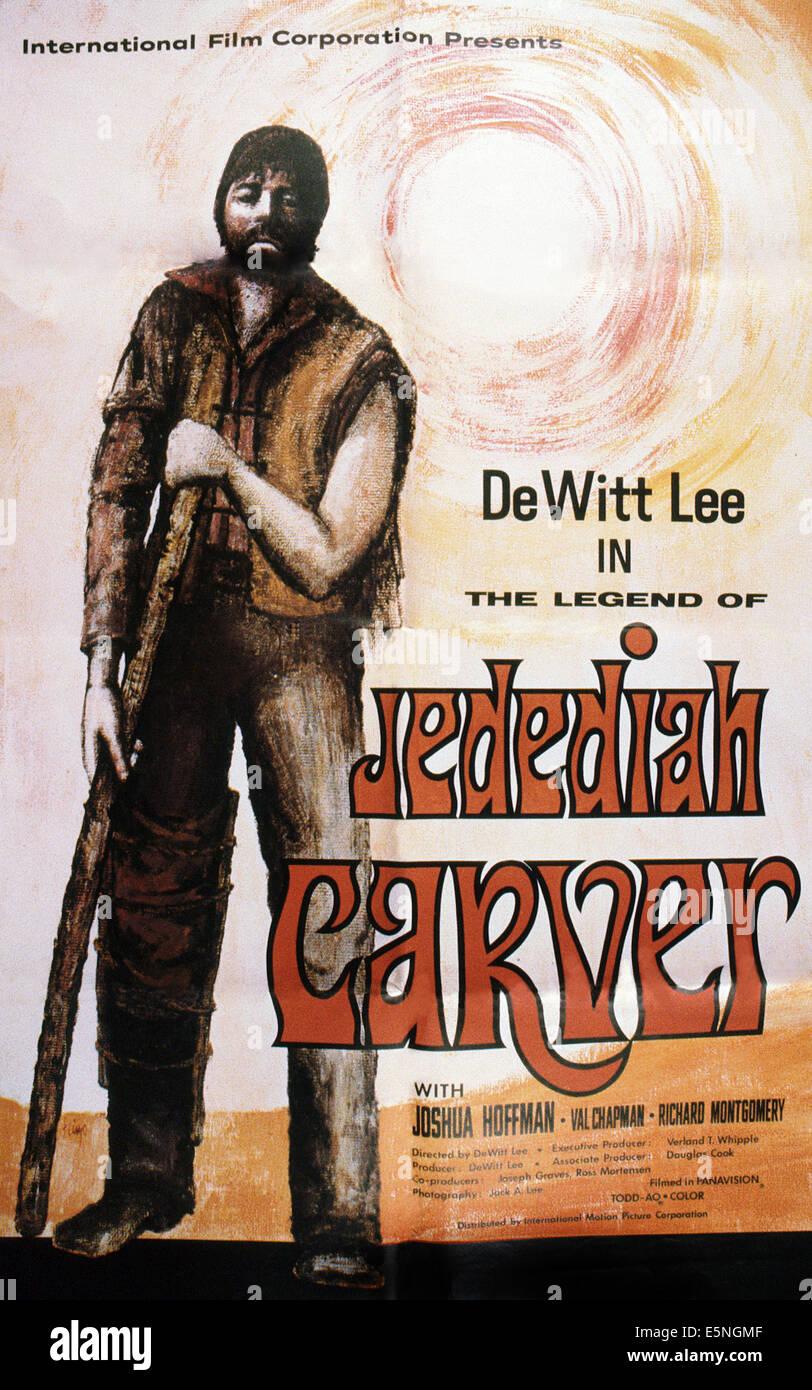 THE LEGEND OF JEDEDIAH CARVER, U.S. poster,  Dewitt Lee, 1976 - Stock Image