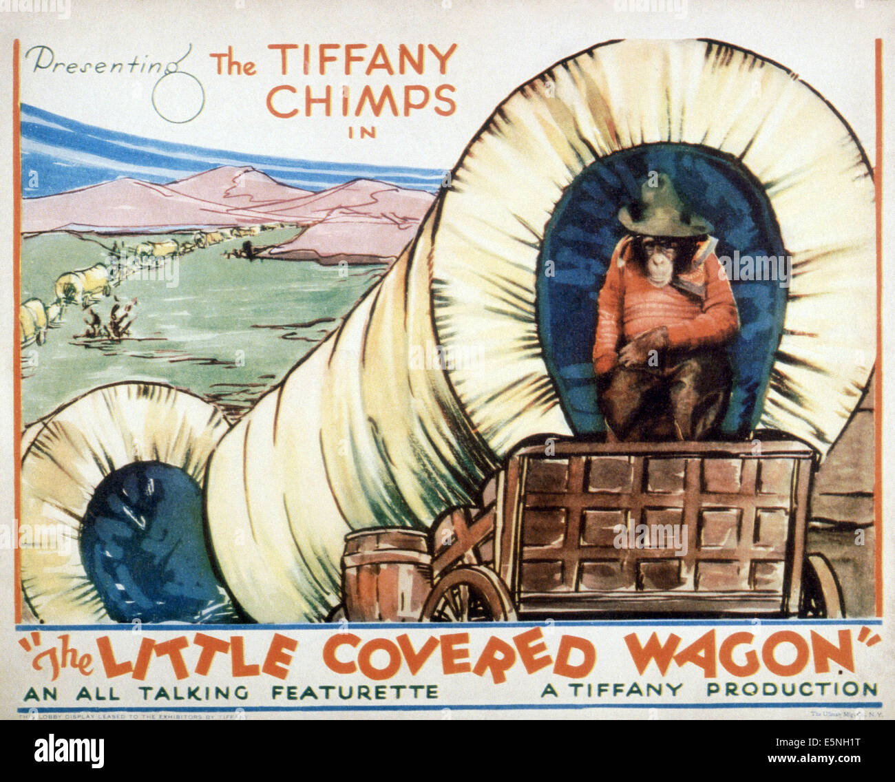 THE LITTLE COVERED WAGON, ca. 1930 - Stock Image