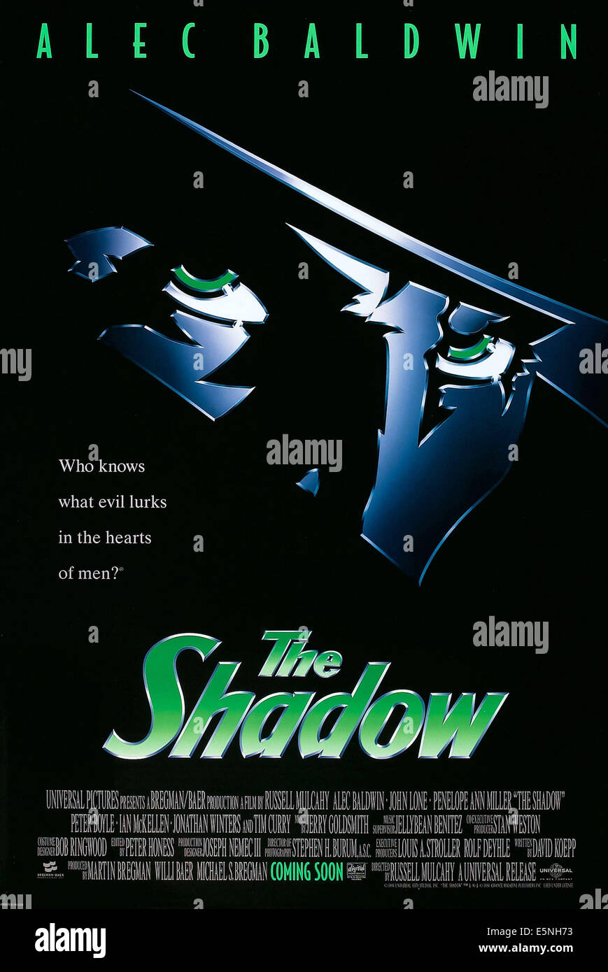 THE SHADOW, US advance poster art, 1994, © Universal/courtesy Everett Collection - Stock Image