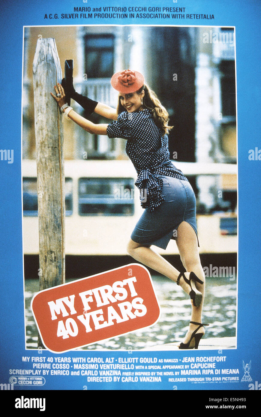 MY FIRST 40 YEARS, (aka I MIEI PRIMI 40 ANNI), US poster, Carol Alt, 1987, © TriStar/courtesy Everett Collection - Stock Image