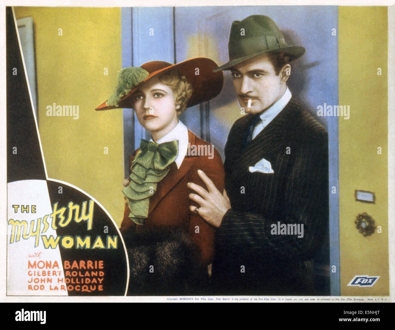 MYSTERY WOMAN, US lobbycard, Mona Barrie, Gilbert Roland, 1935. ©Fox Film Corporation/courtesy Everett Collection - Stock Image