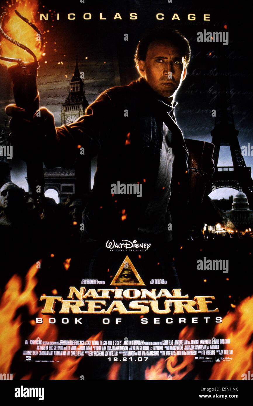 National Treasure Book Of Secrets U S Poster Nicolas Cage 2007 Stock Photo Alamy