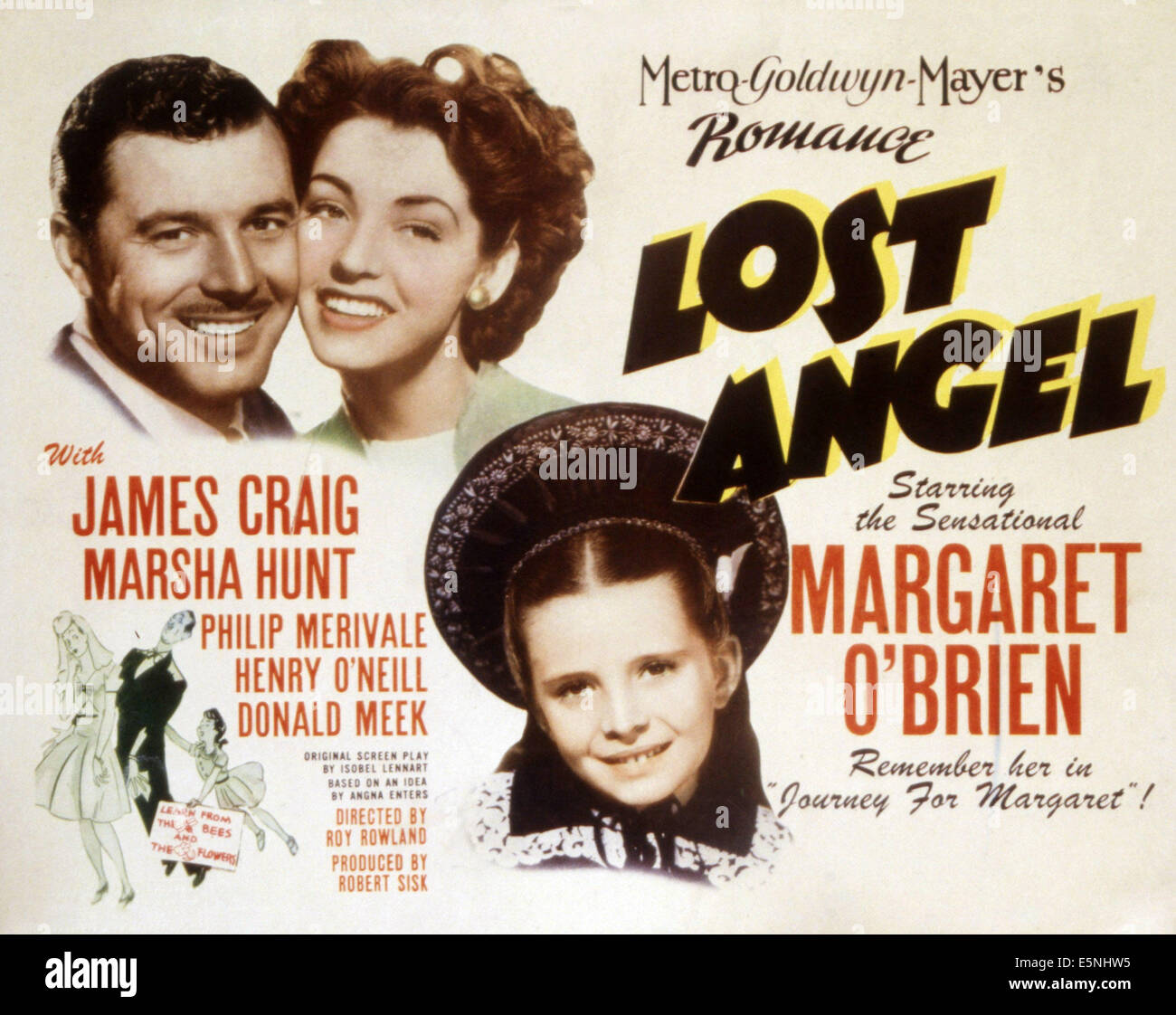 LOST ANGEL, James Craig, Marsha Hunt, Margaret O'Brien, 1943 - Stock Image