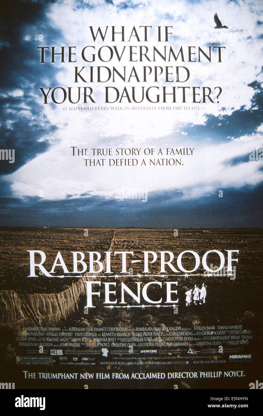 The Rabbit Proof Fence Stock Photos