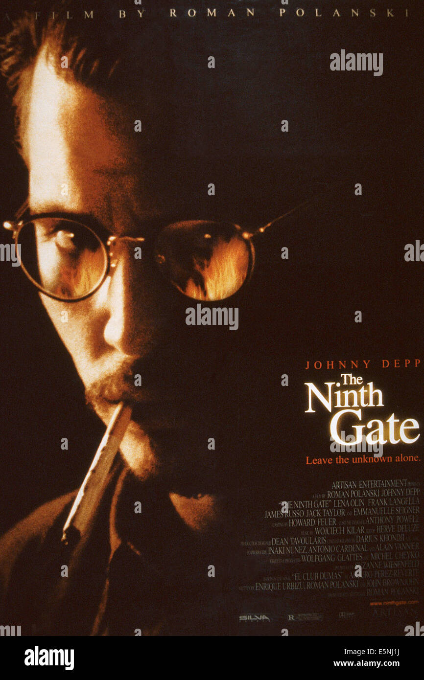 THE NINTH GATE, US poster, Johnny Depp, 1999, © Artisan Entertainment/courtesy Everett Collection - Stock Image