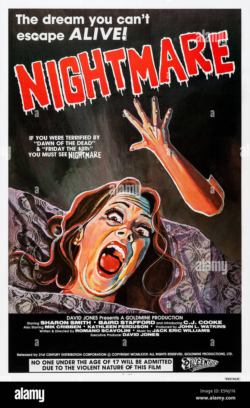 NIGHTMARE, US poster art, 1981, © 21st Century Film Corp./courtesy Everett Collection - Stock Image