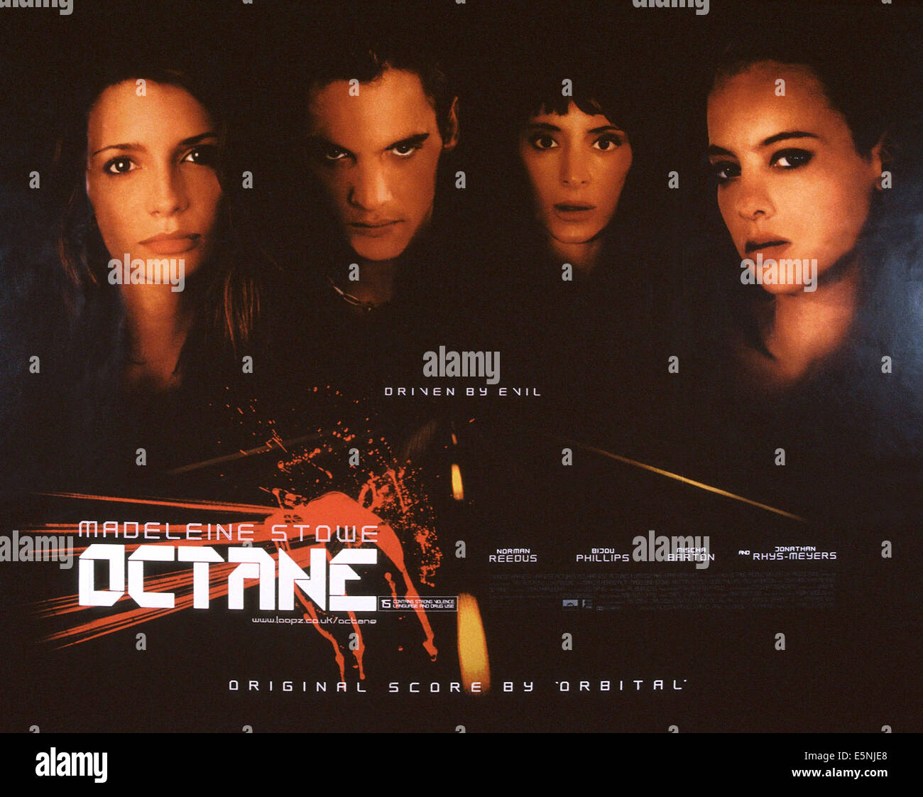 OCTANE, US poster, from left: Mischa Barton, Jonathan Rhys Meyers, Madeleine Stowe, Bijou Phillips, 2003, © RandomStock Photo
