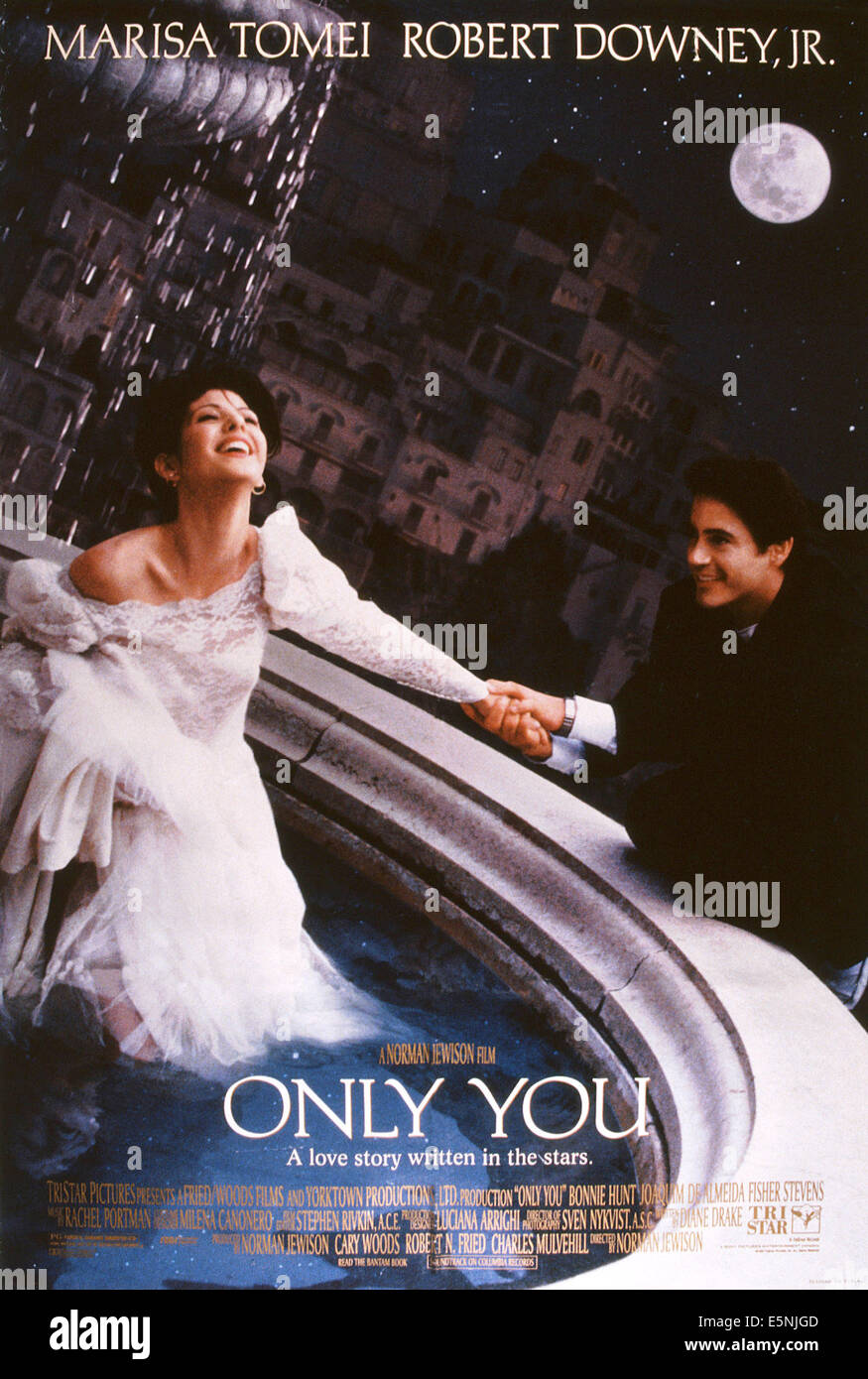 ONLY YOU, US poster, from left: Marisa Tomei, Robert Downey Jr., 1994, © TriStar/courtesy Everett Collection - Stock Image