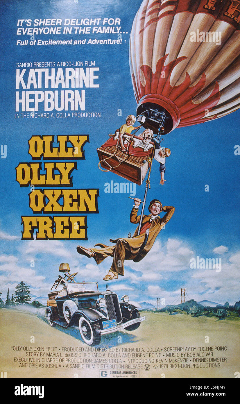Olly Olly Oxen Free Us Poster From Top Kevin Mckenzie Dennis Stock Photo Alamy