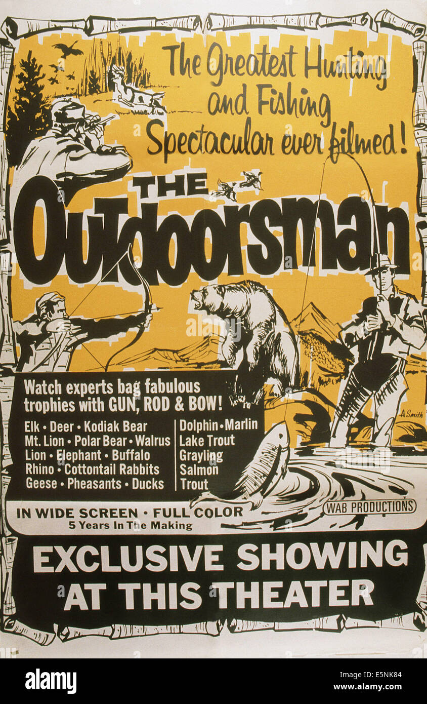THE OUTDOORSMAN, US poster art, 1958 - Stock Image