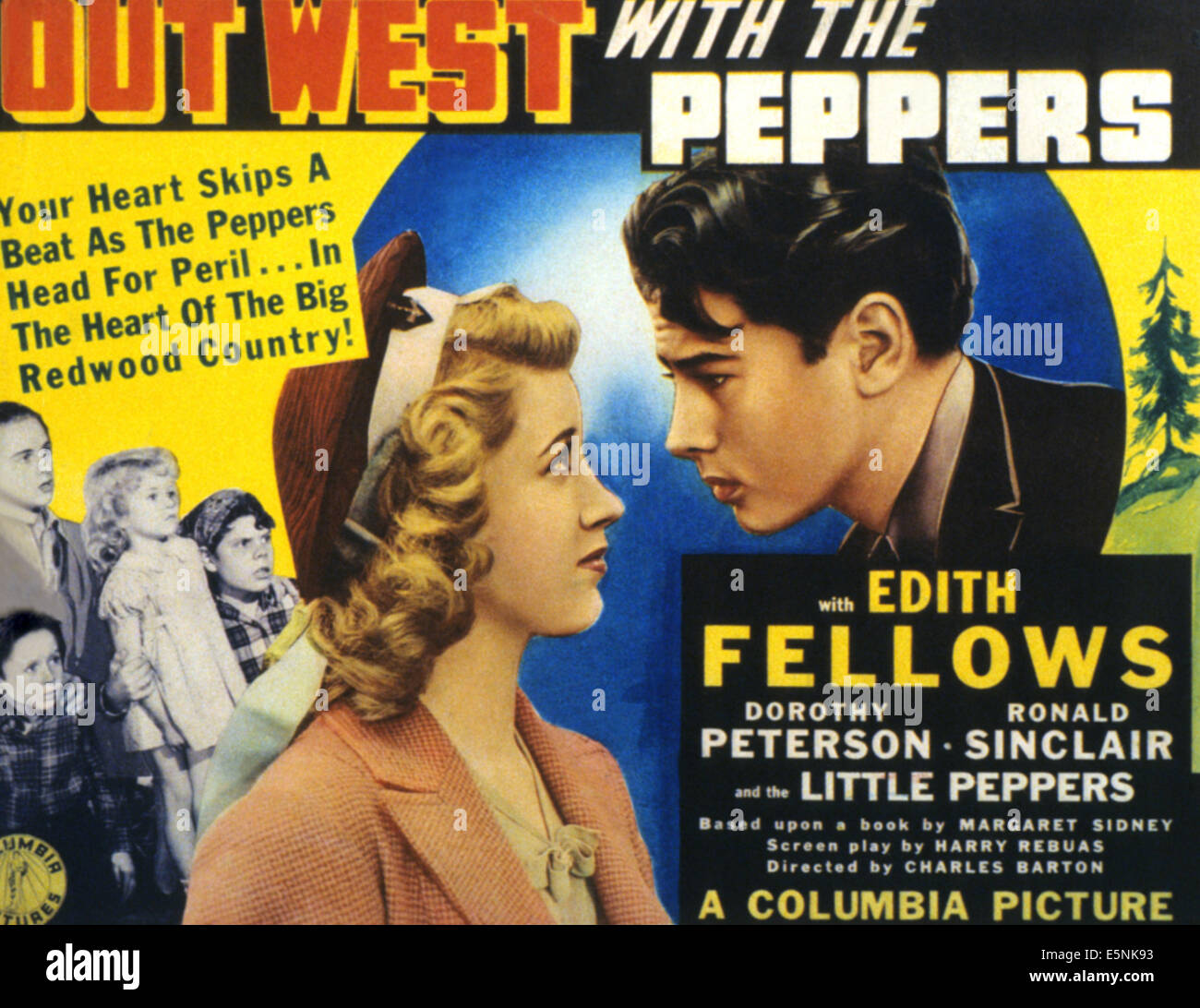 OUT WEST WITH THE PEPPERS, from left, Edith Fellows, Ronald Sinclair, 1940 - Stock Image