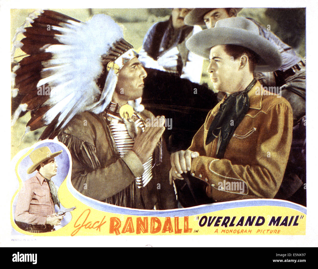 OVERLAND MAIL, from from left: Iron Eyes Cody, Jack Randall, 1939 - Stock Image
