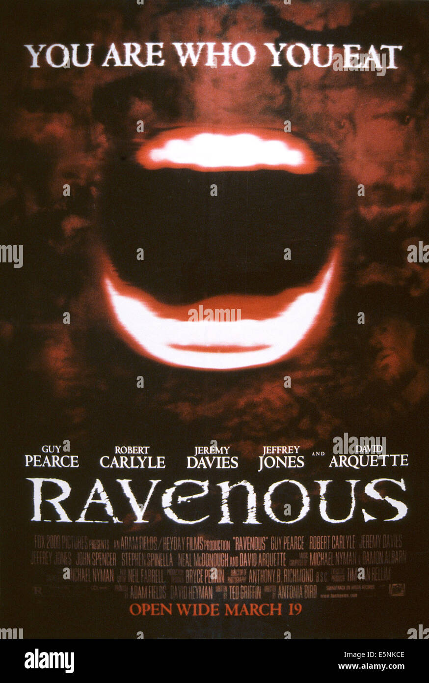 RAVENOUS, US poster, 1999, TM & copyright © 20th Century Fox Film corp./courtesy Everett Collection - Stock Image