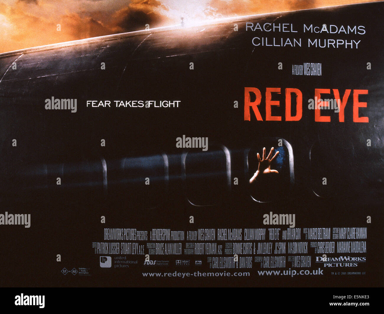 RED EYE, US poster, 2005, © DreamWorks/courtesy Everett Collection - Stock Image