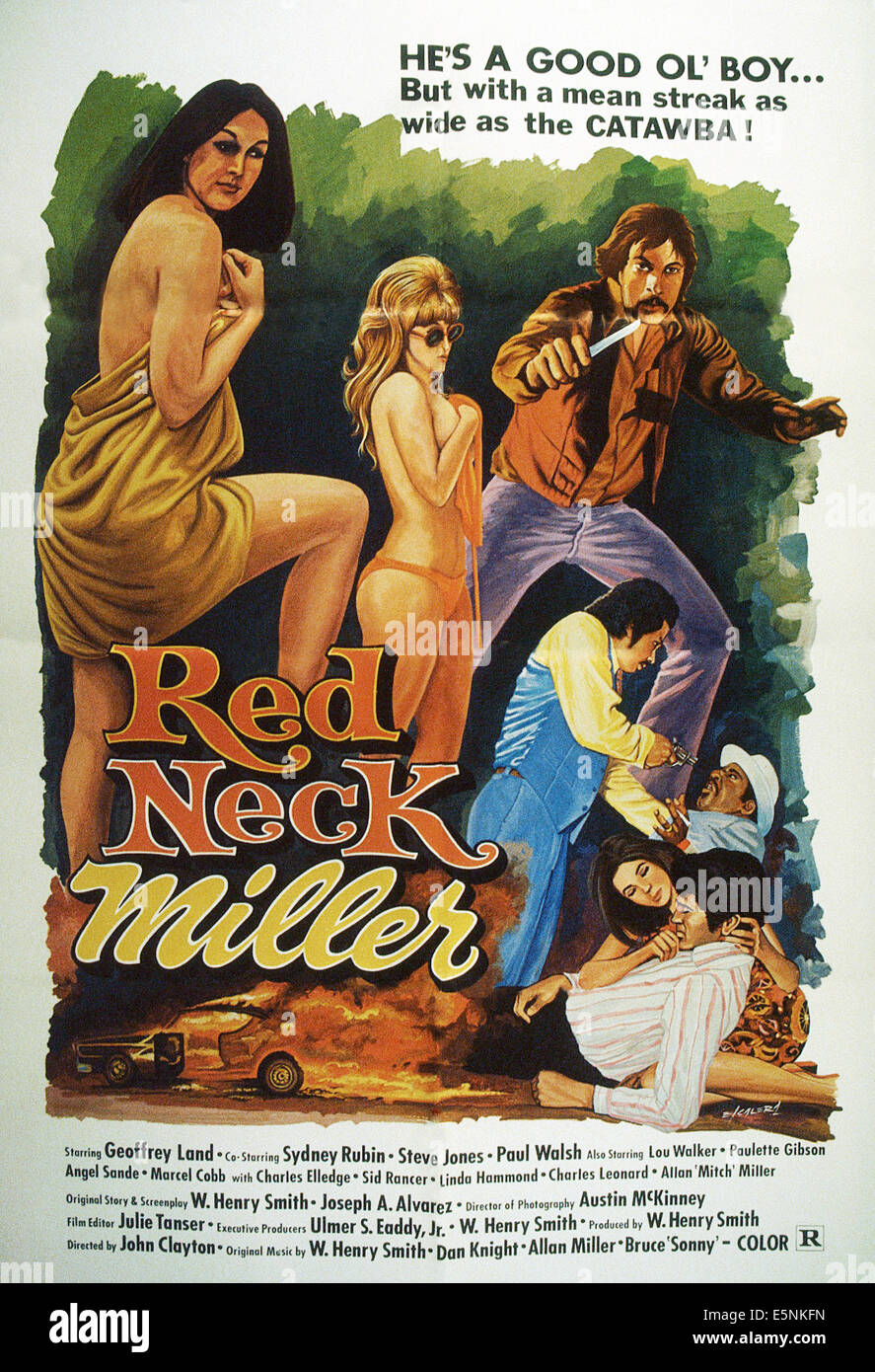 REDNECK MILLER, US poster, 1977 Stock Photo