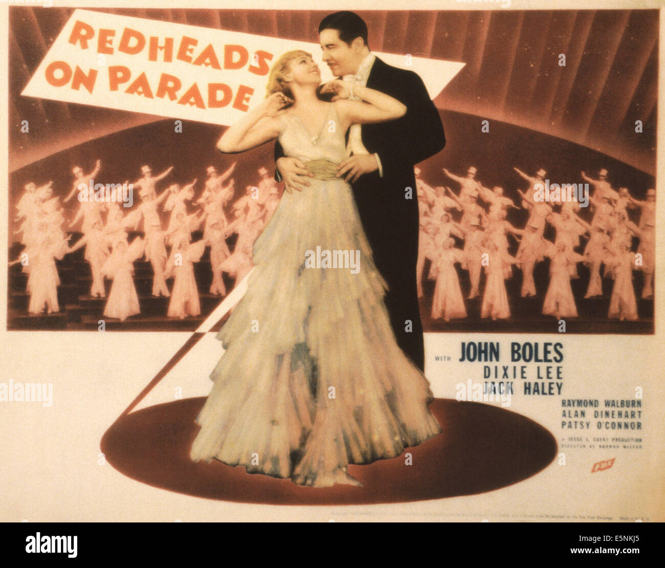 REDHEADS ON PARADE, US poster, from left: Dixie Lee, John Boles, 1935, TM & Copyright © 20th Century Fox - Stock Image
