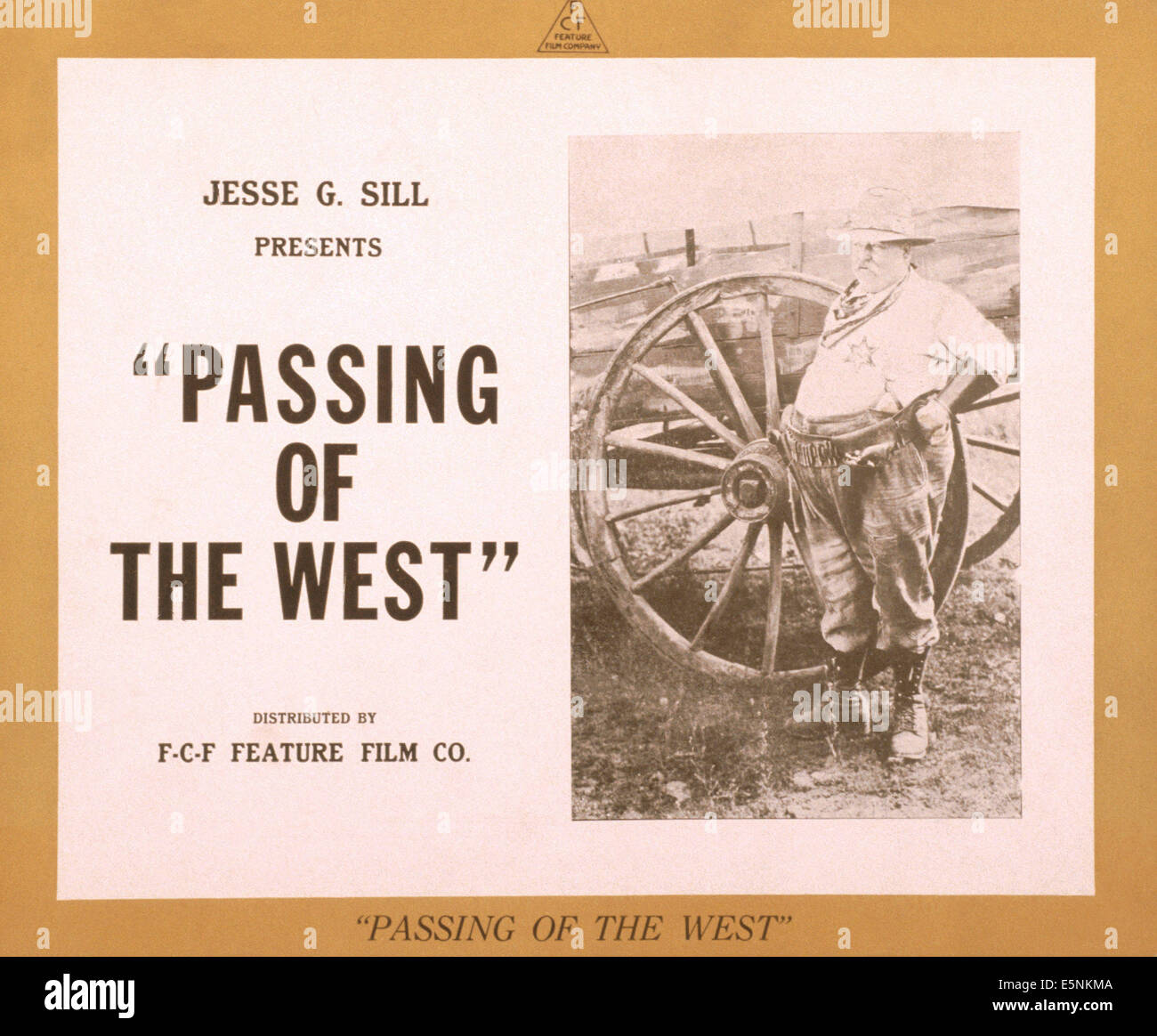 PASSING OF THE WEST, US lobbycard, 1910s - Stock Image
