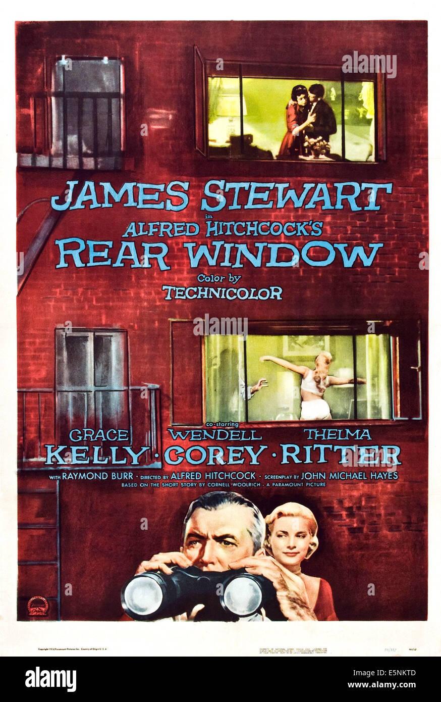 REAR WINDOW, Grace Kelly, James Stewart, 1954. - Stock Image