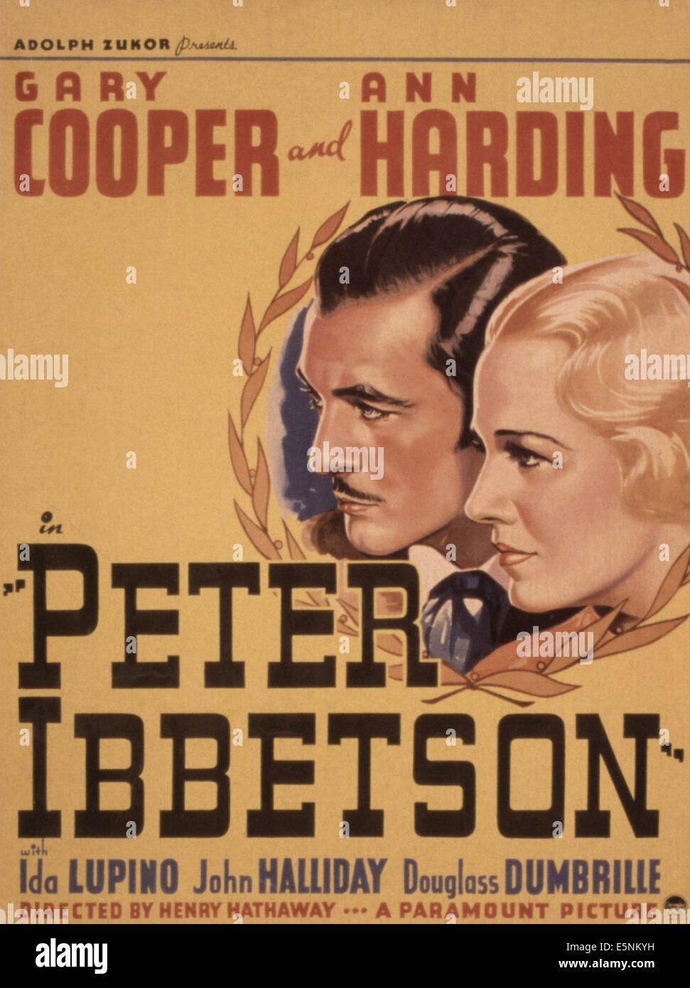 PETER IBBETSON, Gary Cooper, Ann Harding, 1935 - Stock Image